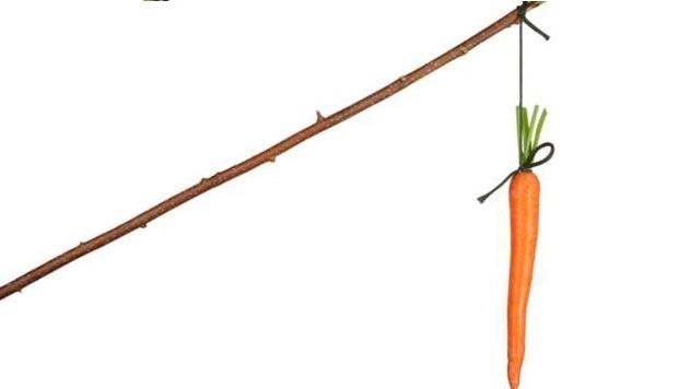šargarepa na dugom štapu